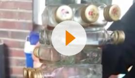 Jenga with Kuemmerling bottle